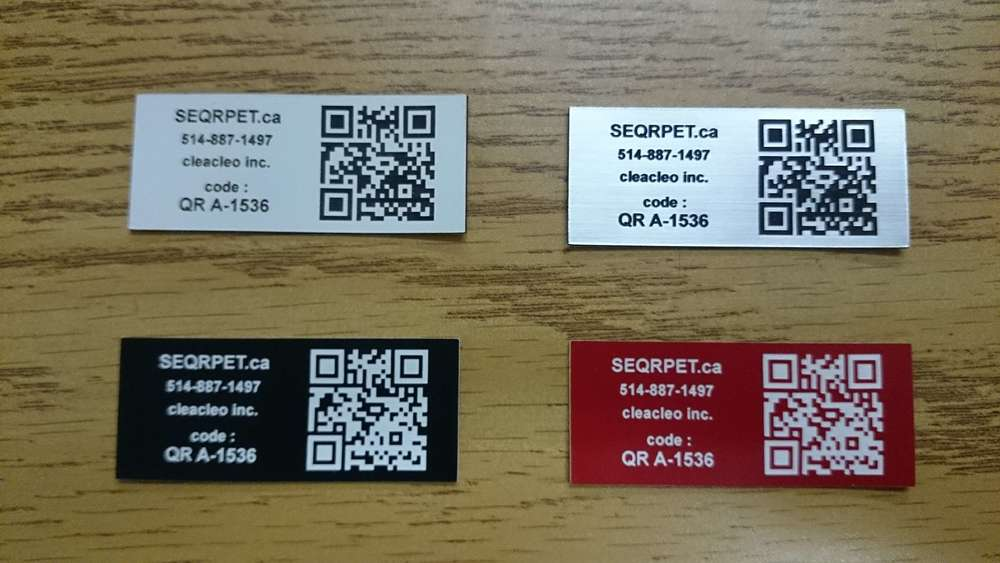 Square tags for pets