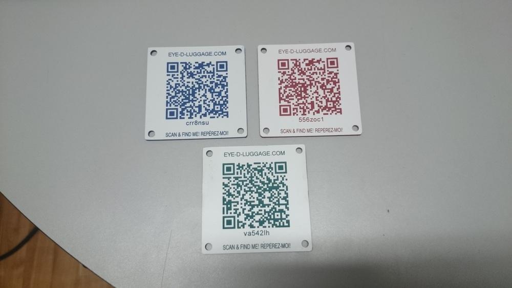 Code QR gravés au laser