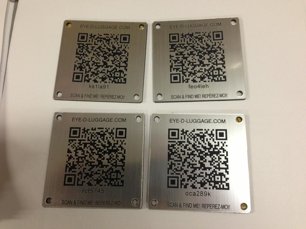 Laser engraved QR codes