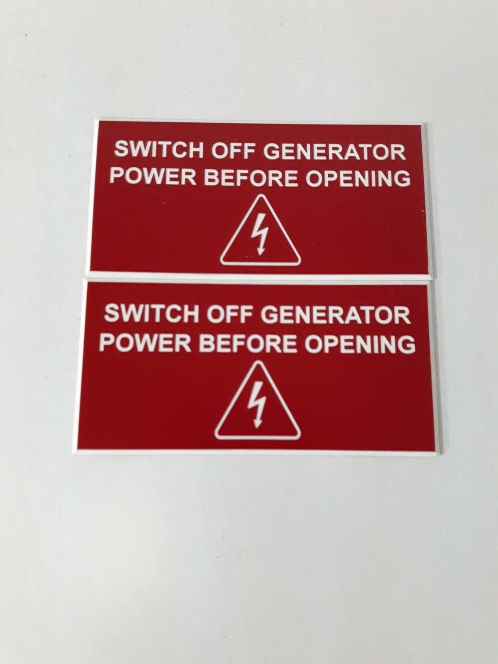 Plaque d'information pour appareil électrique