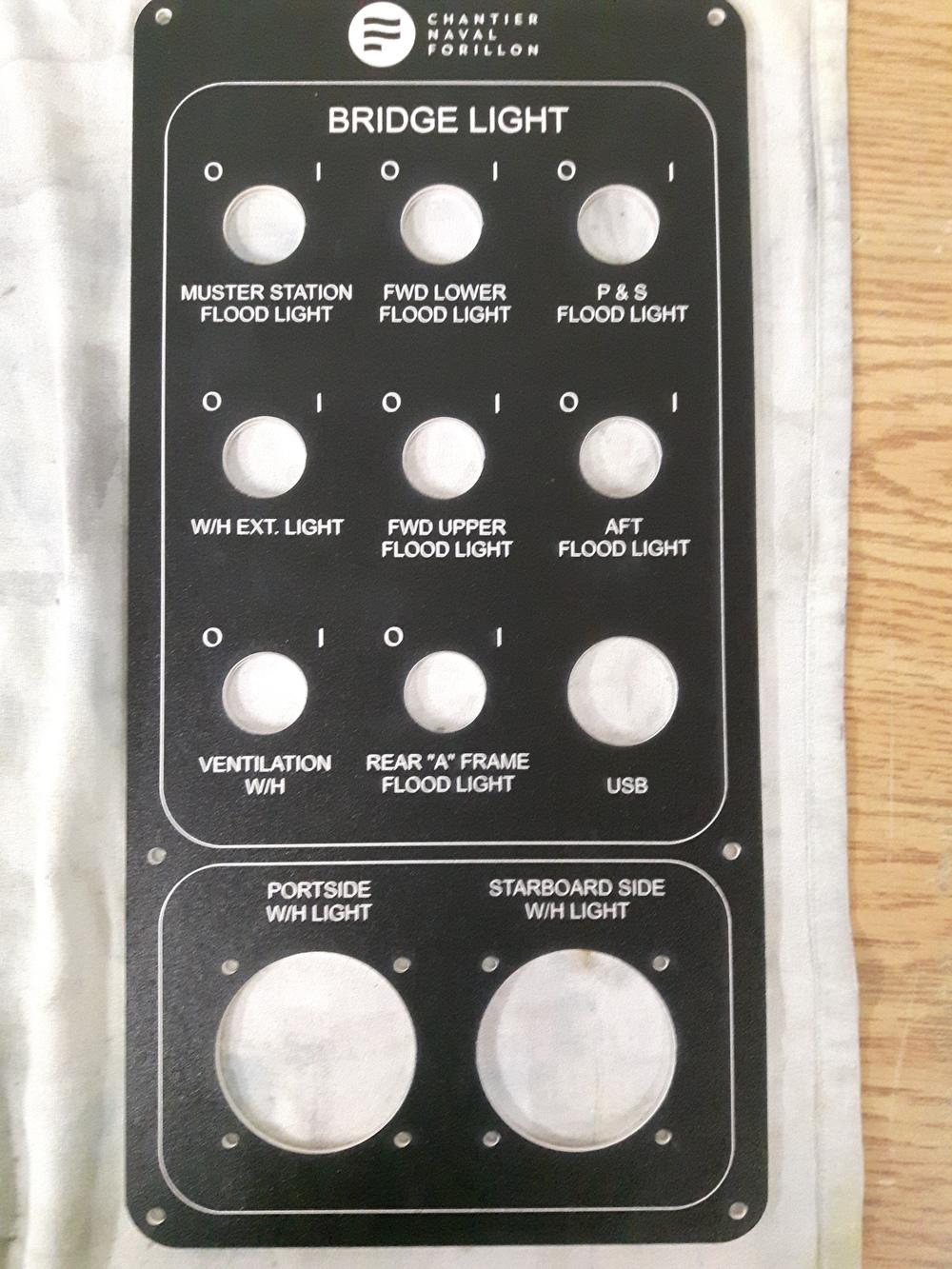 Large control panel
