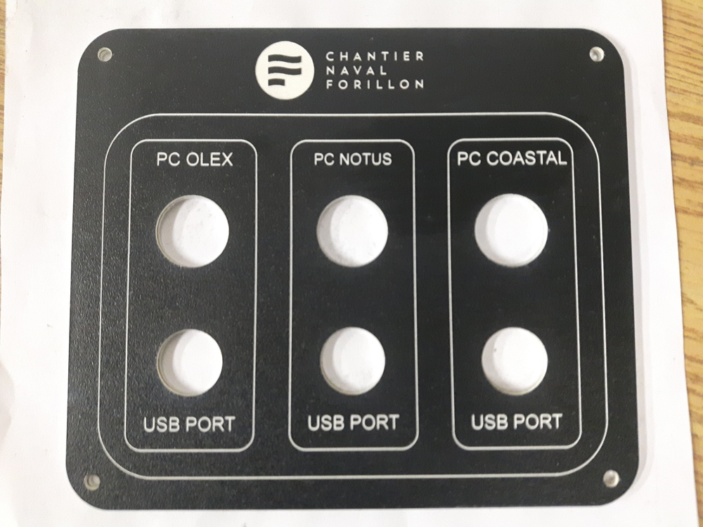 Control panel for a boat