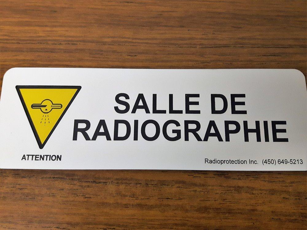 Identification de salle en plastique gravé au laser