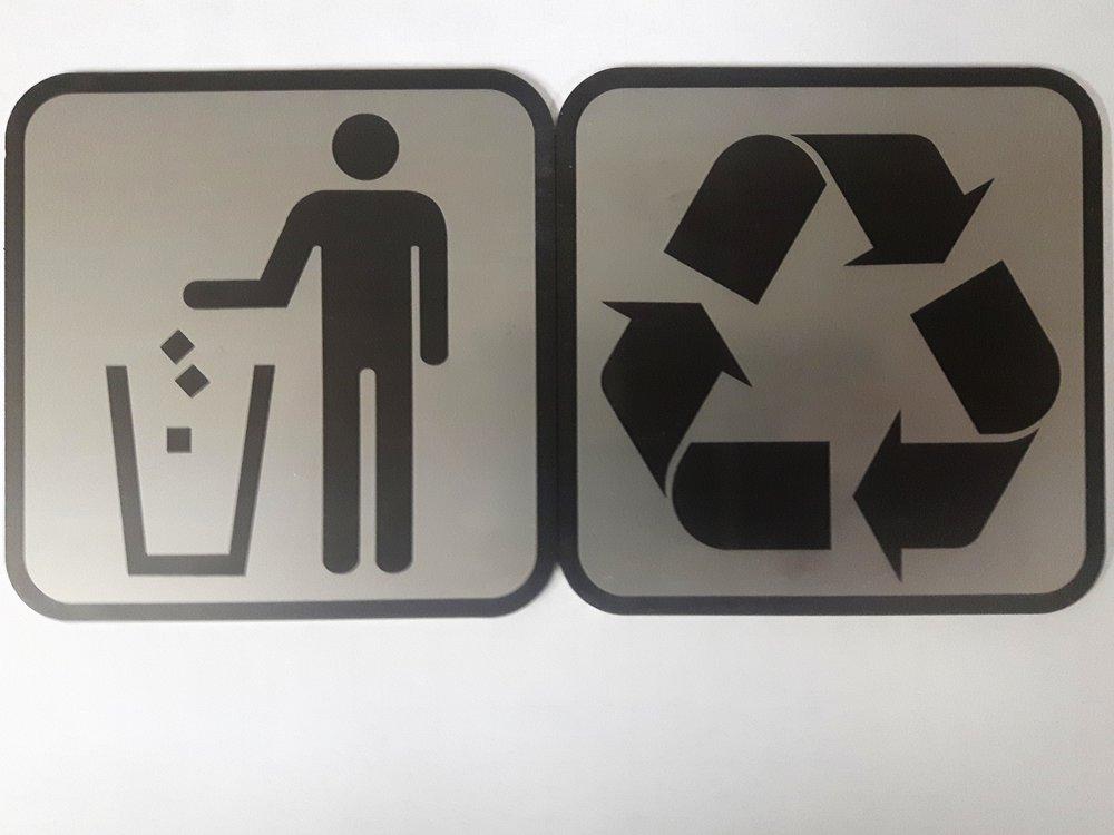 affiche en plastique simili aluminium