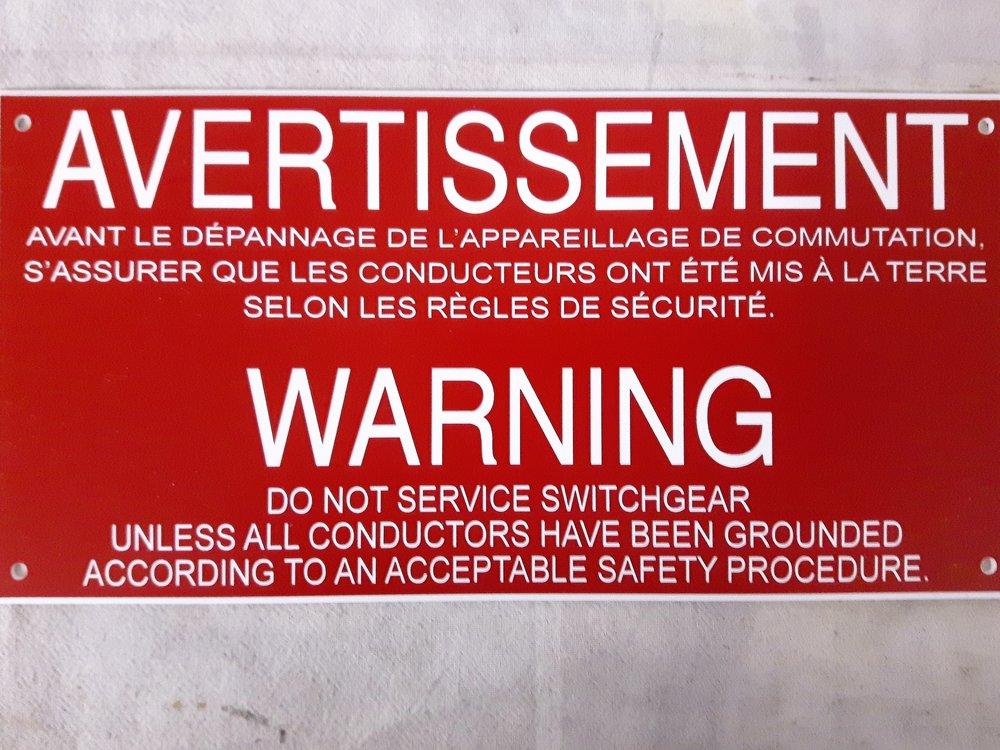 Panneau d'avertissement de danger en plastique lamicoid haut de gamme