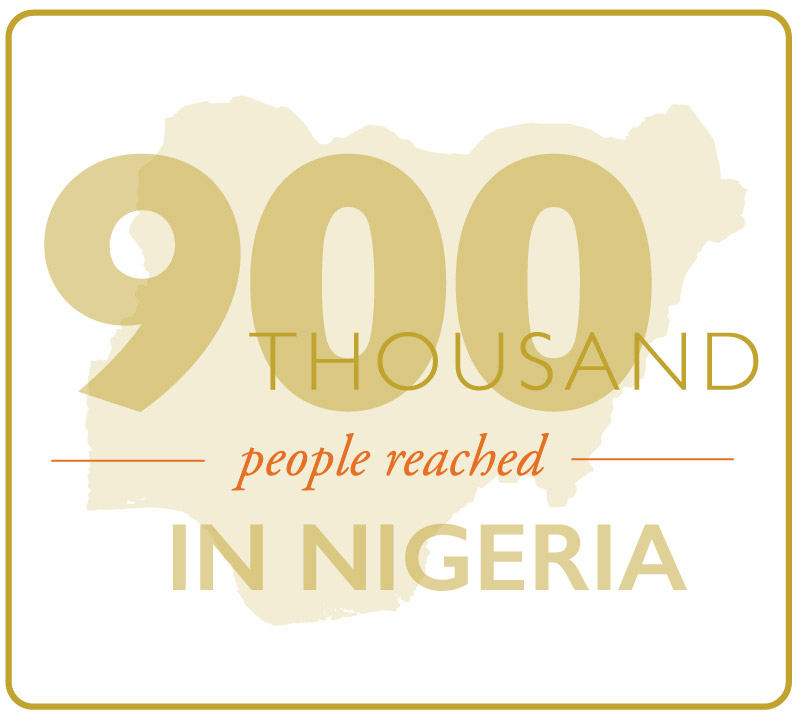 An estimated 900,000 adults and children reached by MSH projects in Nigeria.