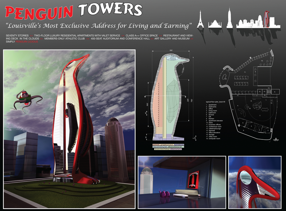 Penguin Tower - A Place To Live And Earn