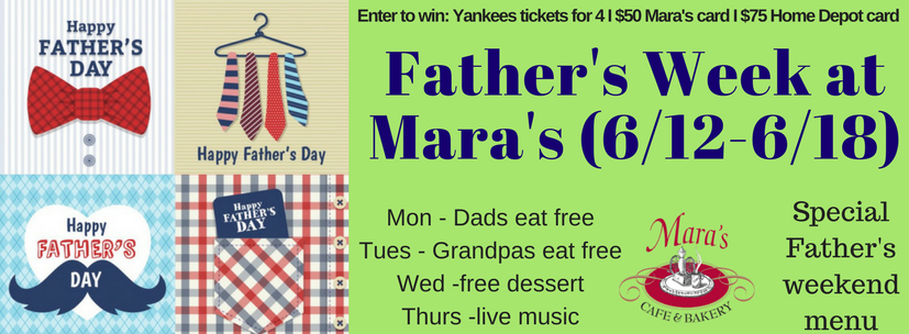 Father's Week is right around the corner! - Don't miss our great specials that help you celebrate dad all week long.