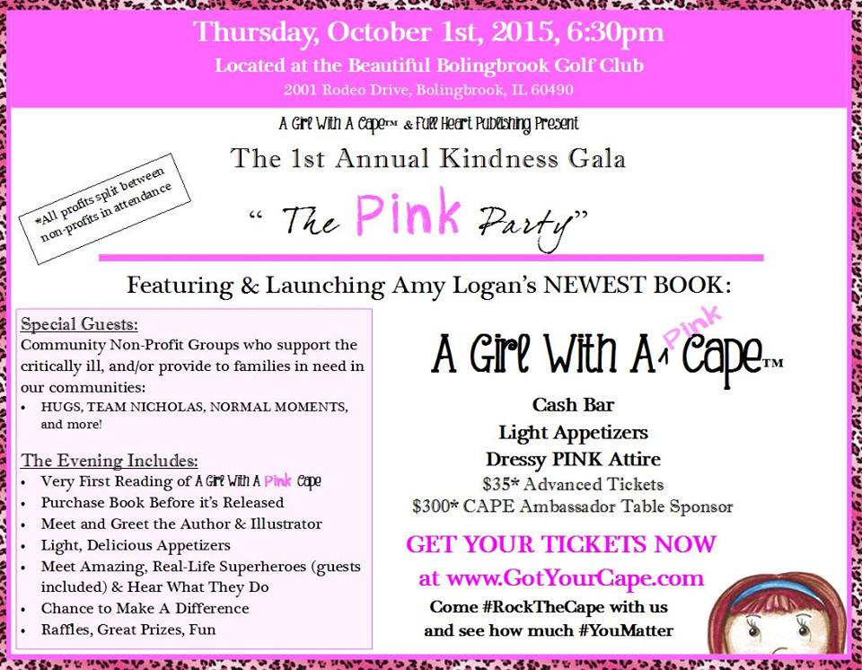 Kindness Gala and Pink Party Event Info