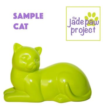 Jade Paw Project - Sample Cat Figurine