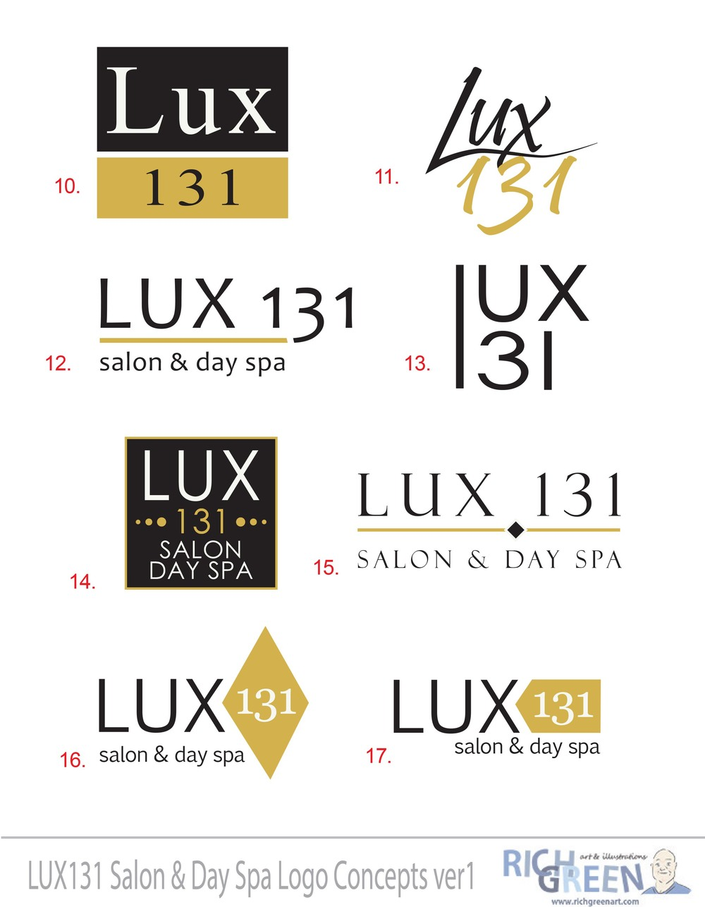 Lux 131 Logo Concepts sheet 2