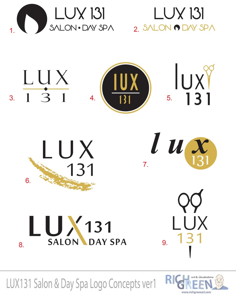 Lux 131 Logo Concepts sheet 1