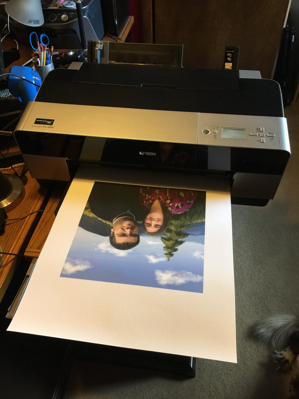 Printing onto canvas