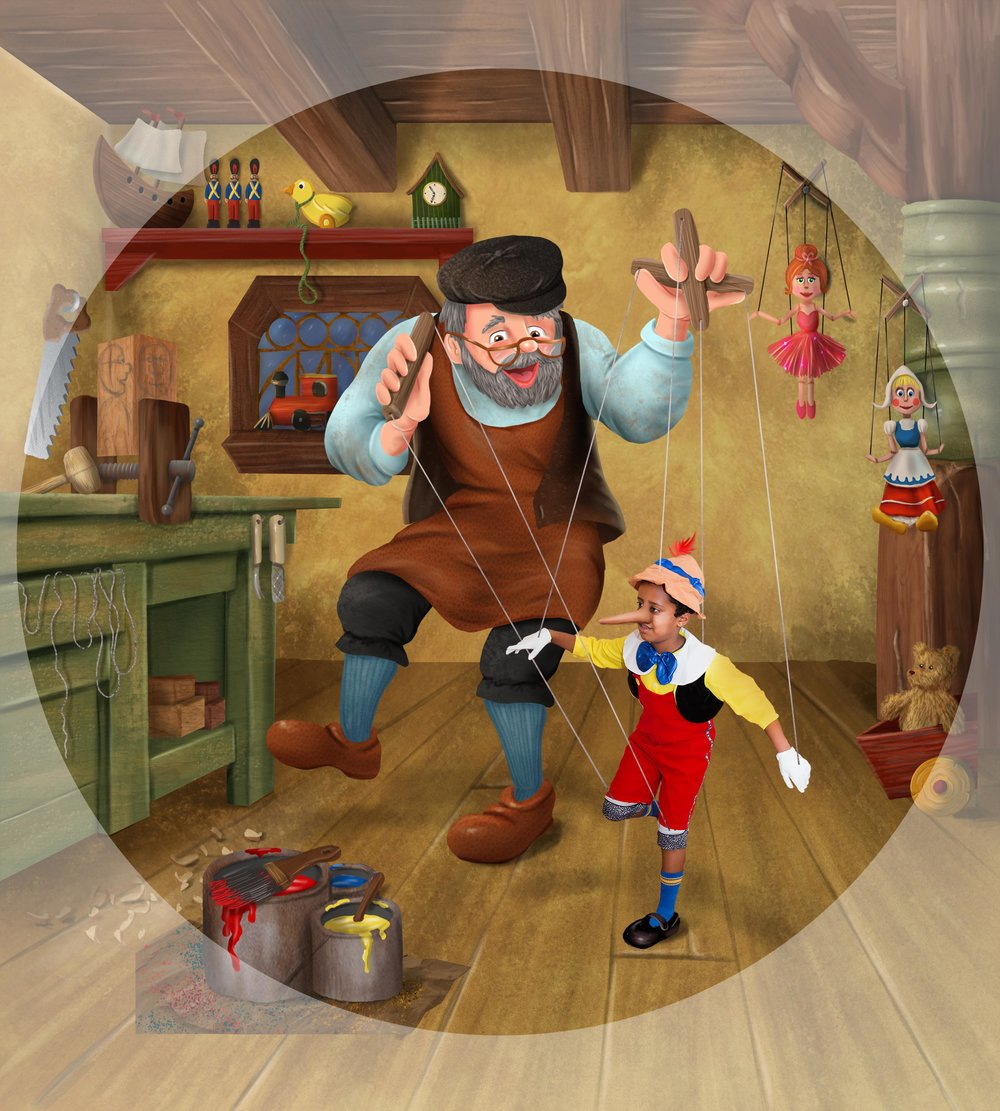 Chicago Treasure Pinocchio (with circle cutout to verify what shows in clock face).jpg