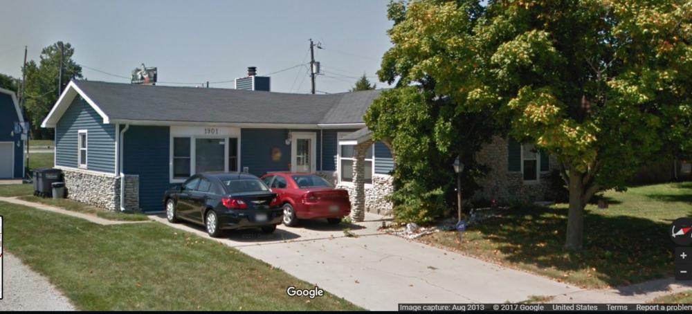 Bride's Parents Home - Google Maps Image