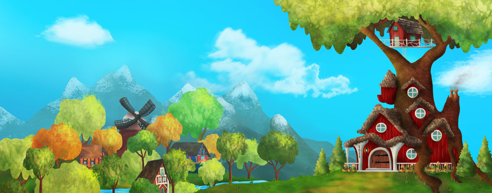 Page 02-03 - Gnome Home and village in distance.jpg