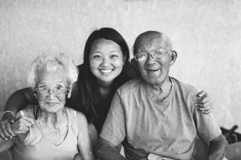 One of my favorite shots of me and my grandparents, Jean and Ryo. This was taken on their back patio just a few weeks before I moved to Japan in 2015.