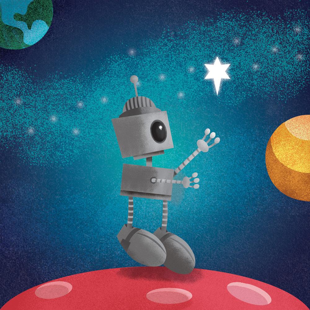 Robbie the Robot Illustration