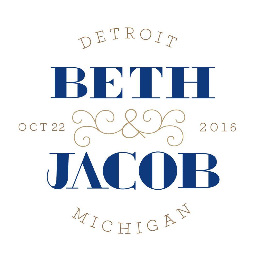 Logo for Beth & Jacob's Wedding