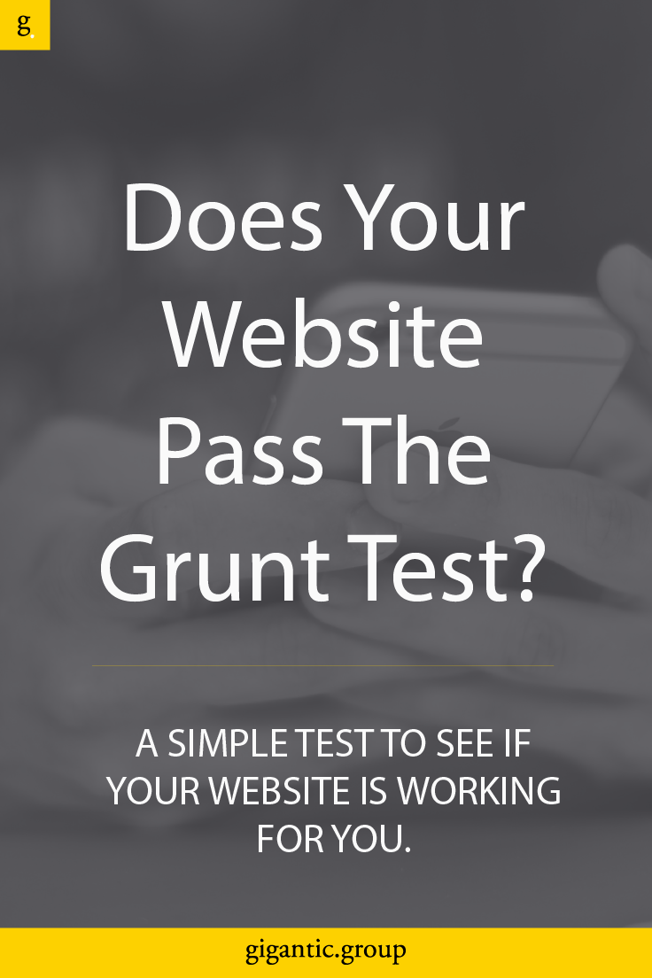 Does your website pass the Grunt Test?