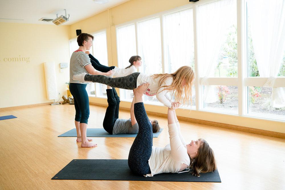 Family partner yoga
