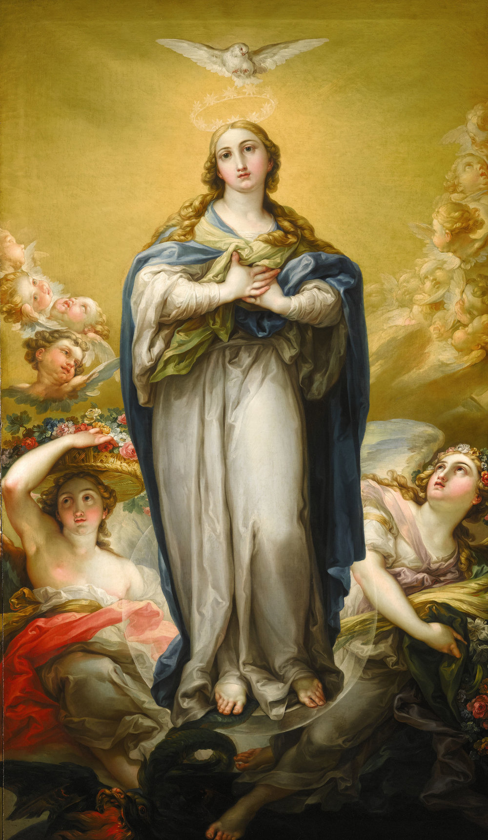 Vicente López Y Portaña (Spanish, 1772-1850) Virgin of the Immaculate Conception oil on canvas, circa 1795-1800 73 by 42 ½ inches (185 by 107 cm)