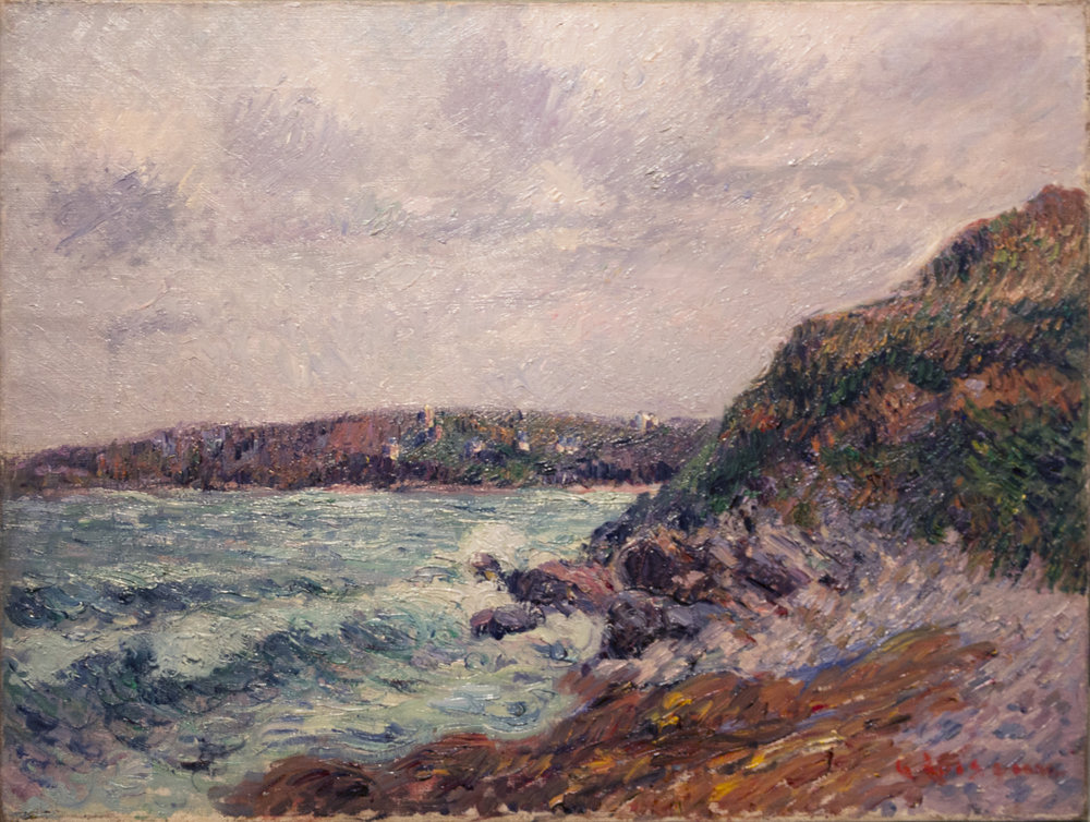 Gustave Loiseau (French, 1865-1935) Baie de Treboul, 1913 Oil on canvas, 18 3/8 x 24 1/4 inches Signed lower right: G Loiseau
