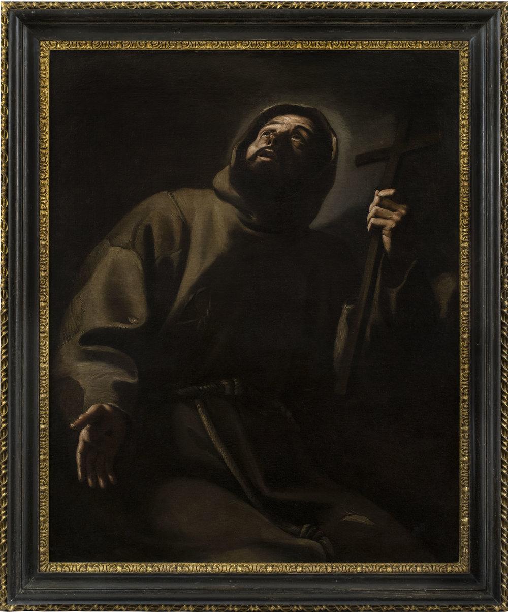 Mattia Preti (Taverna, Calabria 1613 - 1699 La Valletta, Malta) St. Francis Oil on canvas, 47 3/4 x 38 1/2 inches (121.5 x 98 cm)