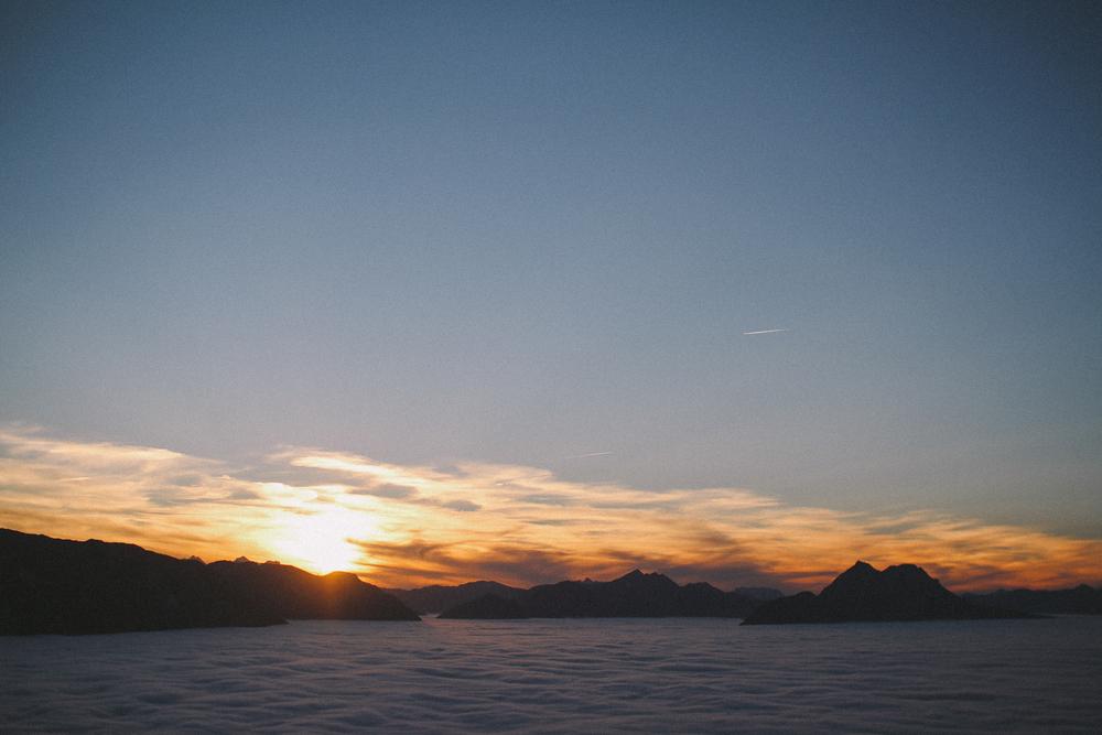 Sunset @ Gaisberg Mountain