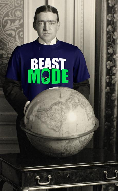 Oops. I guess someone forgot to tell us theatre folk that the Super Bowl is happening the same weekend as our workshop performances at ACT. And since Seattle's  actually in  the Super Bowl there's no sense trying to fight it. So, here he is. Ernest Shackleton, in all his glory, reppin' a Beast Mode shirt. Go Seahawks!