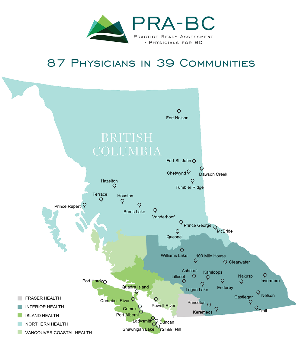 PRA-BC Map - Physician Placements - Updated January 2018 (2).png