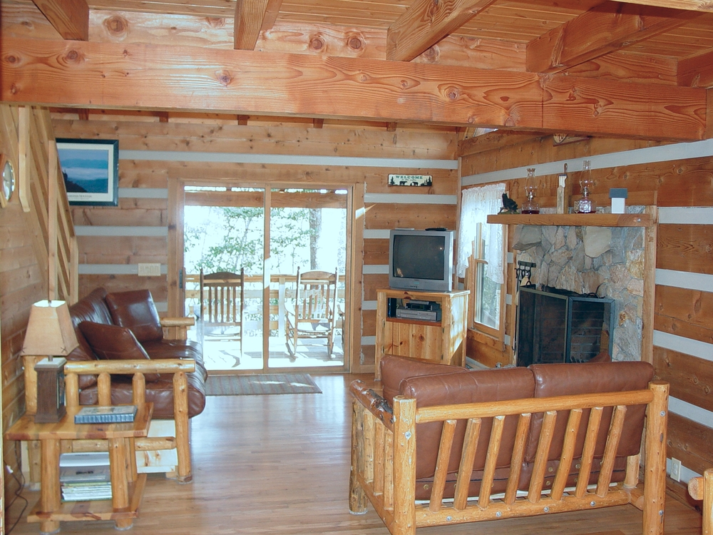 Hand-hewn cedar log cabins
