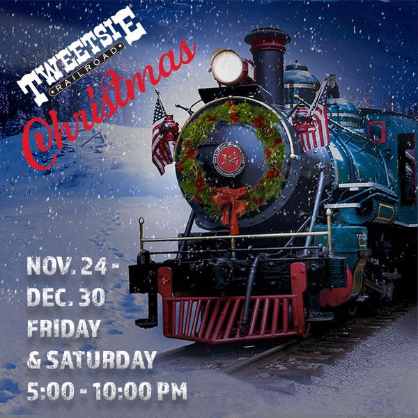 Tweetsie Christmas Train 2019 Tweetsie Christmas   November 22   December 28, 2019   Friday
