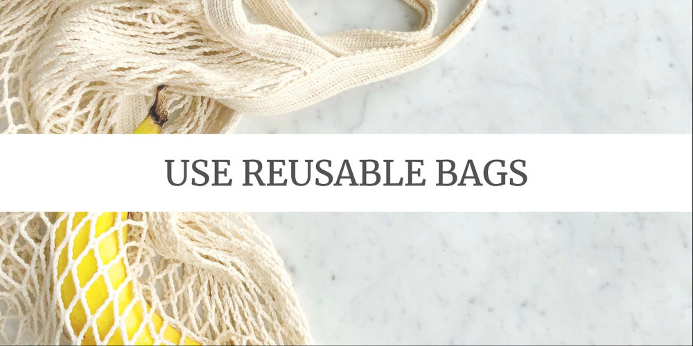 Eco-friendly Grocery Shopping Tips: use reusable bags