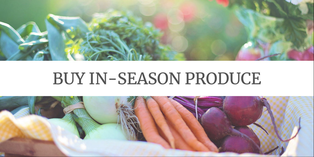 Eco-friendly Grocery Shopping Tips: shop for fruits and vegetables that are in season