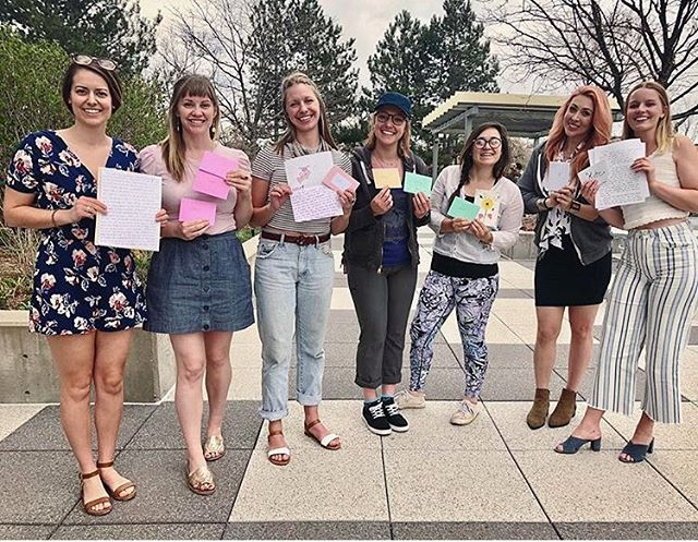 💕 We love our lovely letter writers ✨shoutout to these ladies and their Write Night last week 📝 Pc: @maryannhallman • • • • • • • • #nationalletterwritingmonth #makeadifference #girlpower #helpothers #girlsquad #theletterproject #happymail #snailmail #inspiredaily #letteringpractice #letteringchallenge #write_on #partyideas #positivepost #happyvibes
