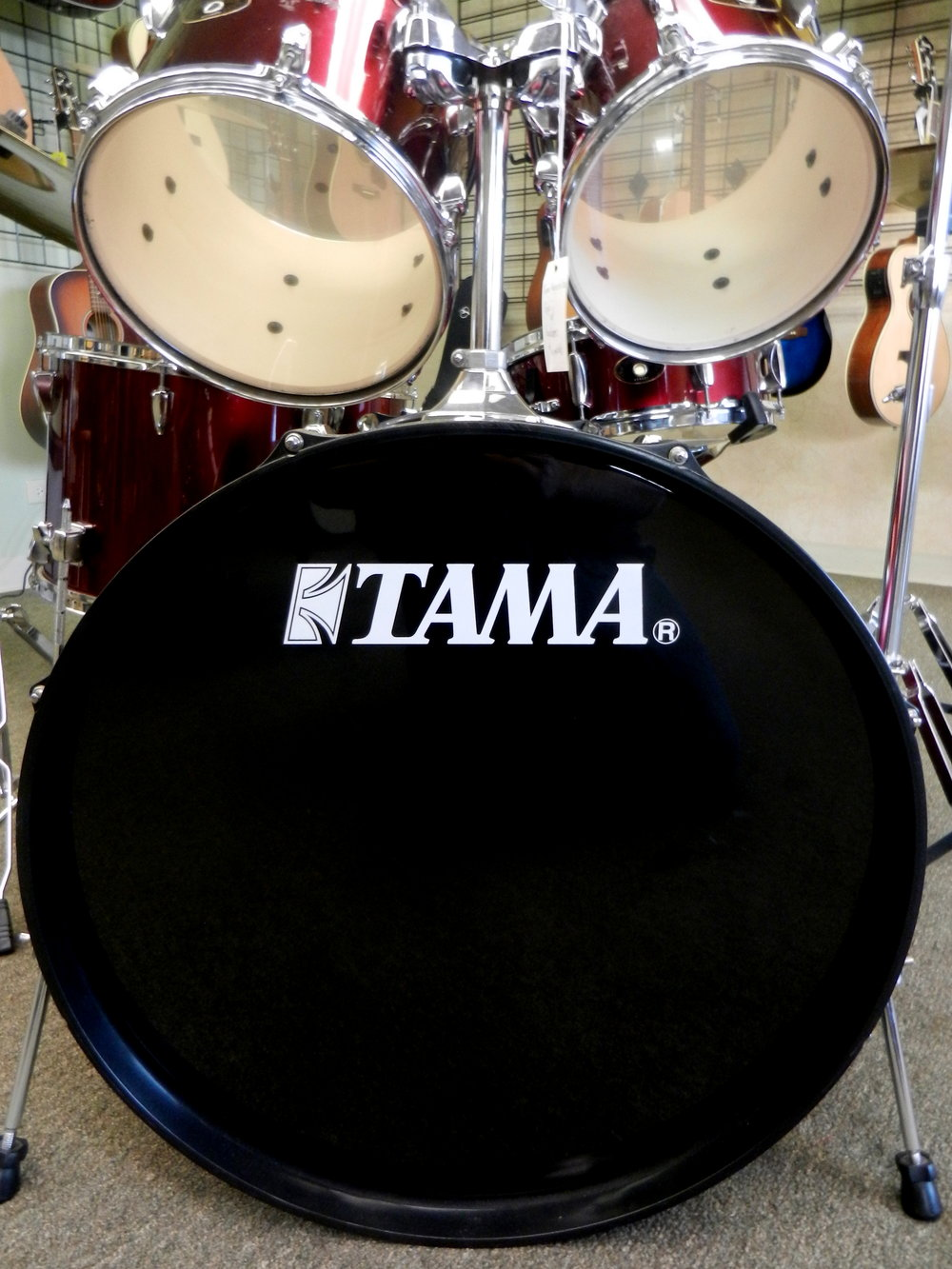 Used Tama Imperialstar Drum Set Bass Drum.JPG