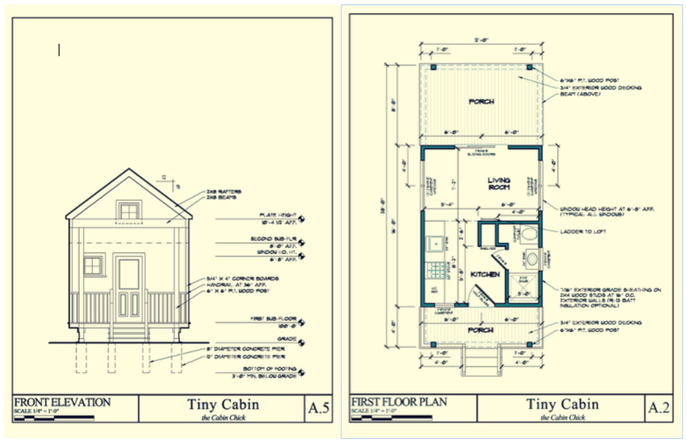 High Quality Cabin Chick Tiny Cabin Plans Design