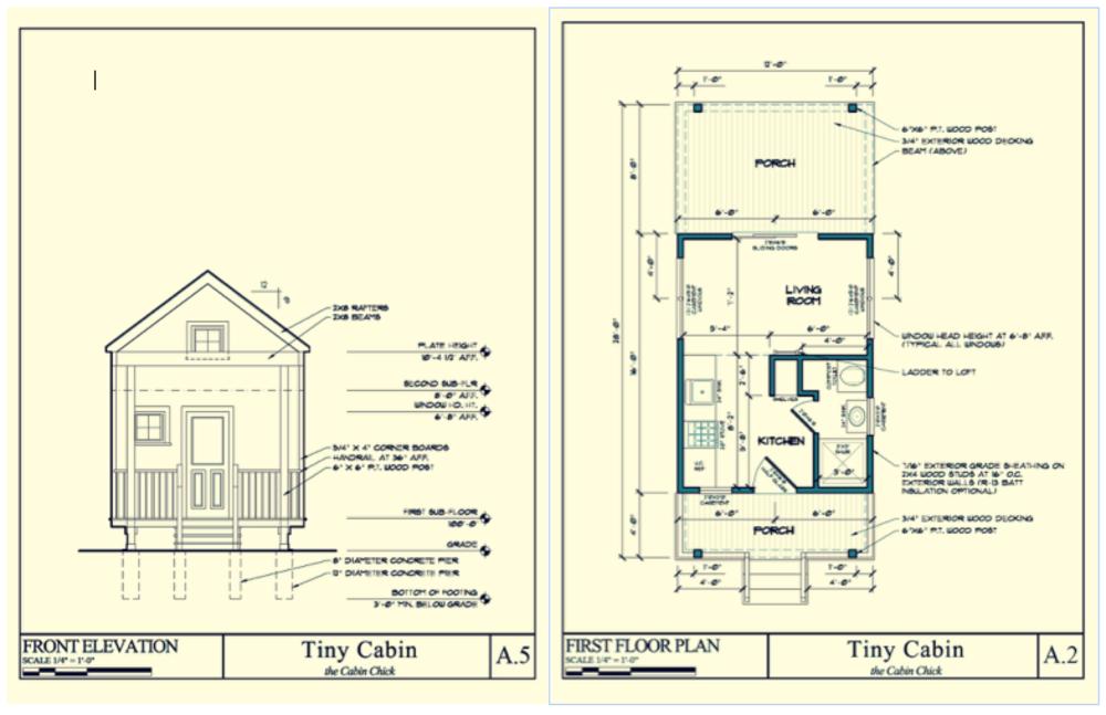 tiny cabin plans