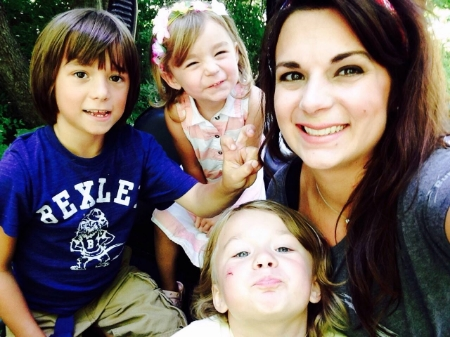 Taking a quick selfie with the cutest gang around - Trent (7), Casey (4), Norah (3)
