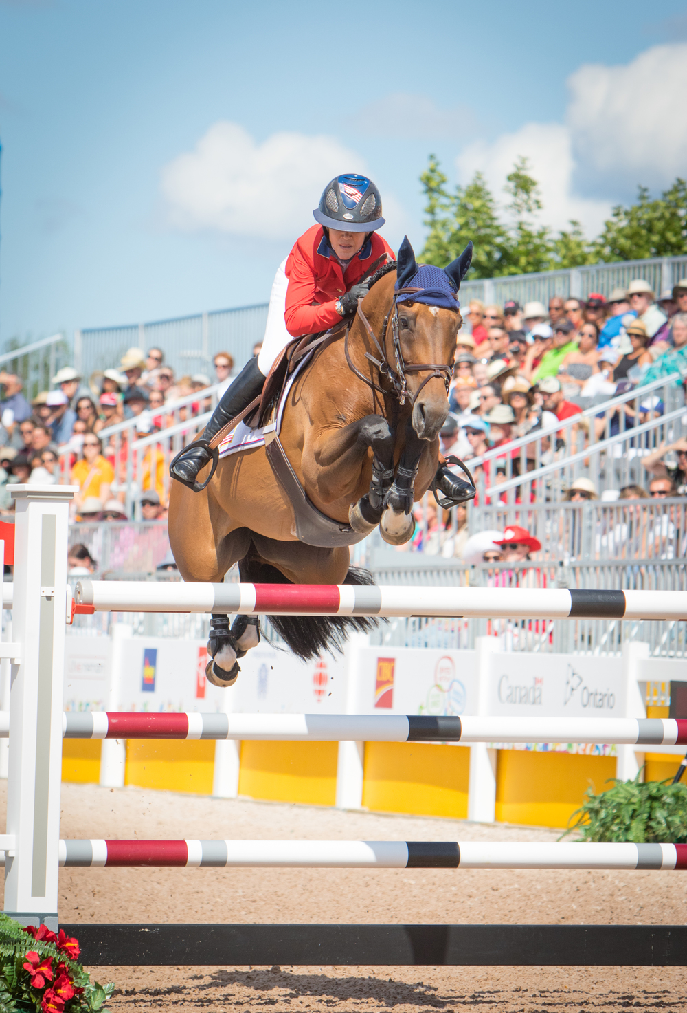 Top and above, Lauren and Ohlala compete at the Pan American Games, July 2015. Ph. ©StockImageServices.com