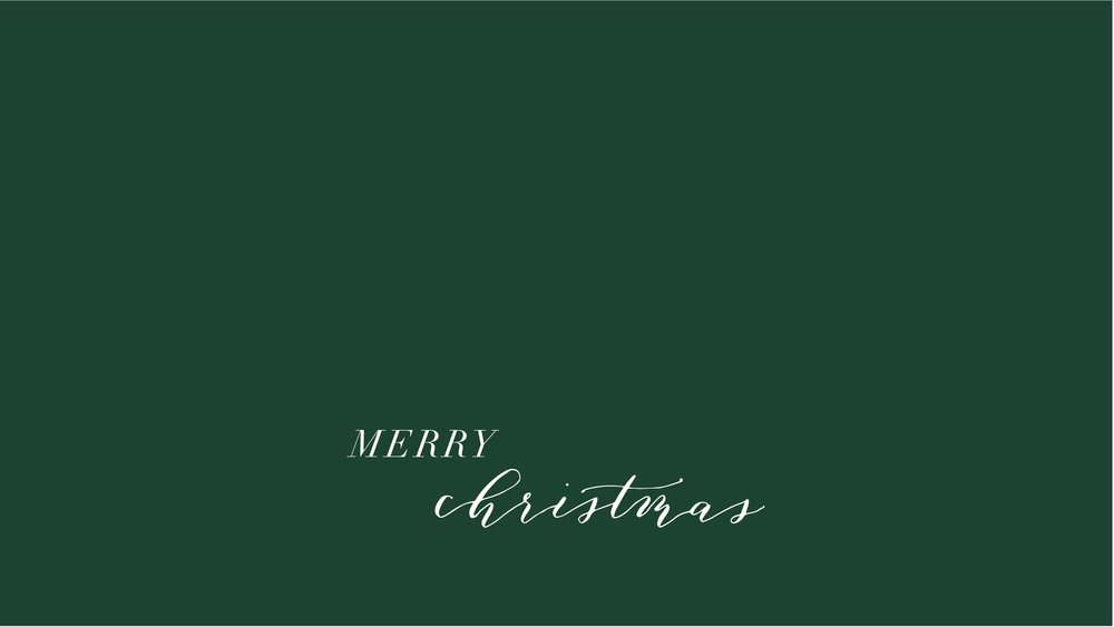 OTS Desktop Merry Christmas Green