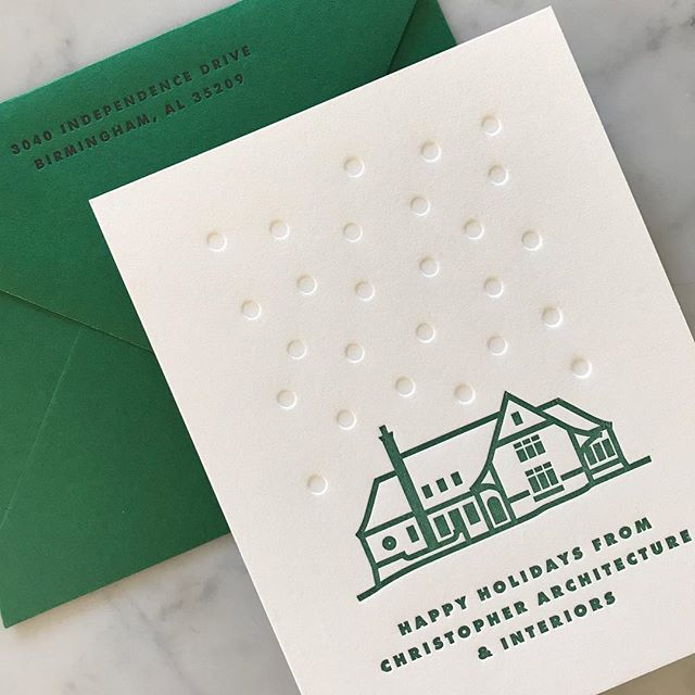 LOVE these cards I printed for @christopherai ! The blind pressed snow is a great detail. My fav part may be the black ink on the punchy green 😍🙌🏻 . Great design, guys (duh). . . #christmas #christmastree #🎄 #happyholidays #❄️ #santa #🎅 #mrsclause #🤶 #merryandbright #festiveaf #⛄️ #letitsnow #redandgreen #seasonsgreetings #snowman #holidaycards #gifttags #letterpressholiday #snailmail #💌 #📬 #holidaycheer #holidayspirit