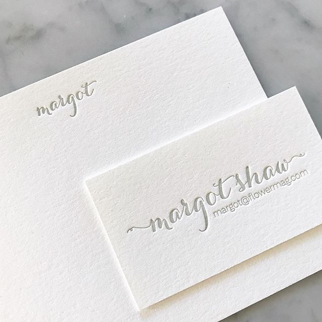 Printed a simple stationery set for a lovely lady
