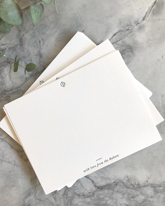 FINALLY was able to print some stationery for myself (and husband) right before baby Graham was born. ❤️the tiny navy type and our family logo is 🙌🏻