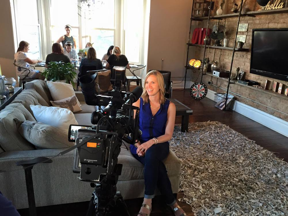 GILD Collective's Kelsey Pytlik during a recent interview on WCPO Cincinnati.