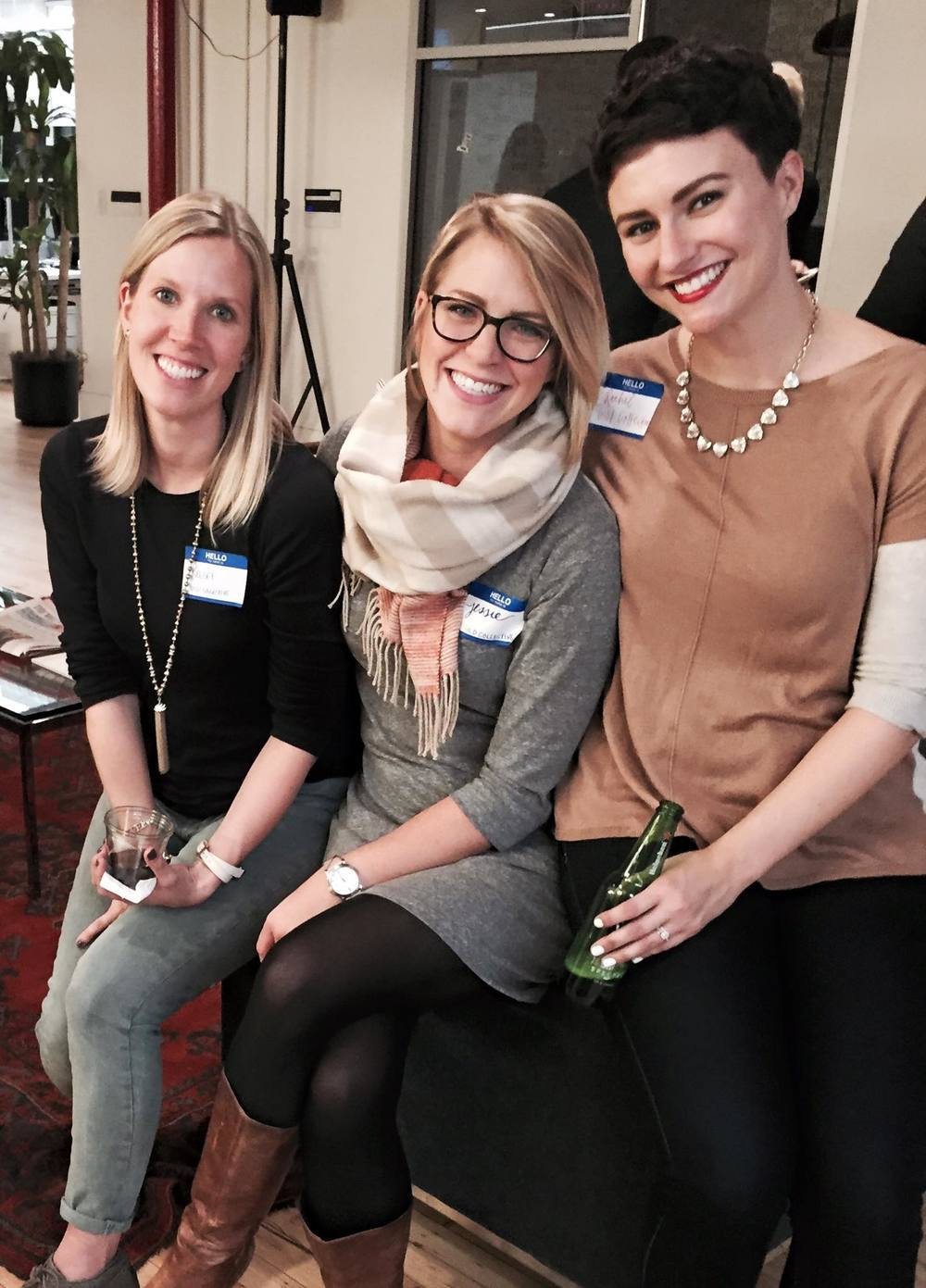 Gild Collective co-founders in New York City. From left: Kelsey Pytlik, Jessie Deye, Rachel Bauer McCreary.