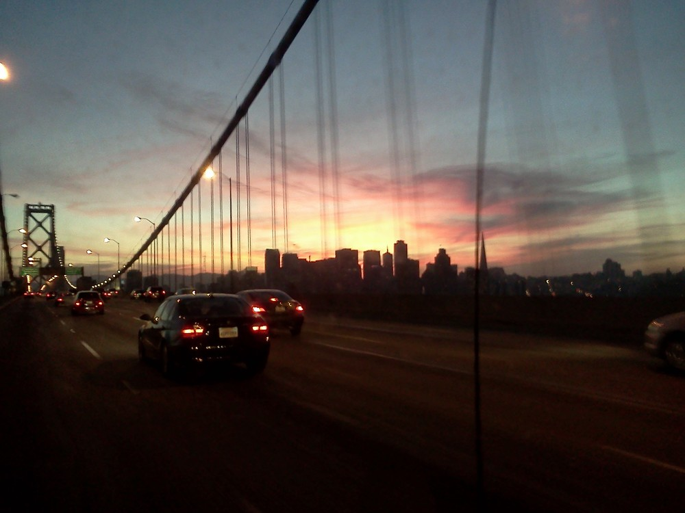 SF skyline from Bay Bridge