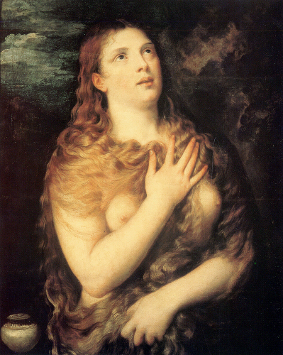 Penitent Magdalene  by Titian