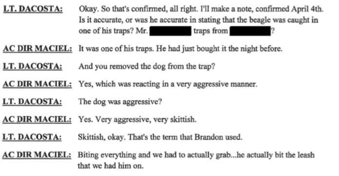 """New Bedford ACO Maciel admits dog came from Odie's Place's trap and dog was """"very aggressive"""""""